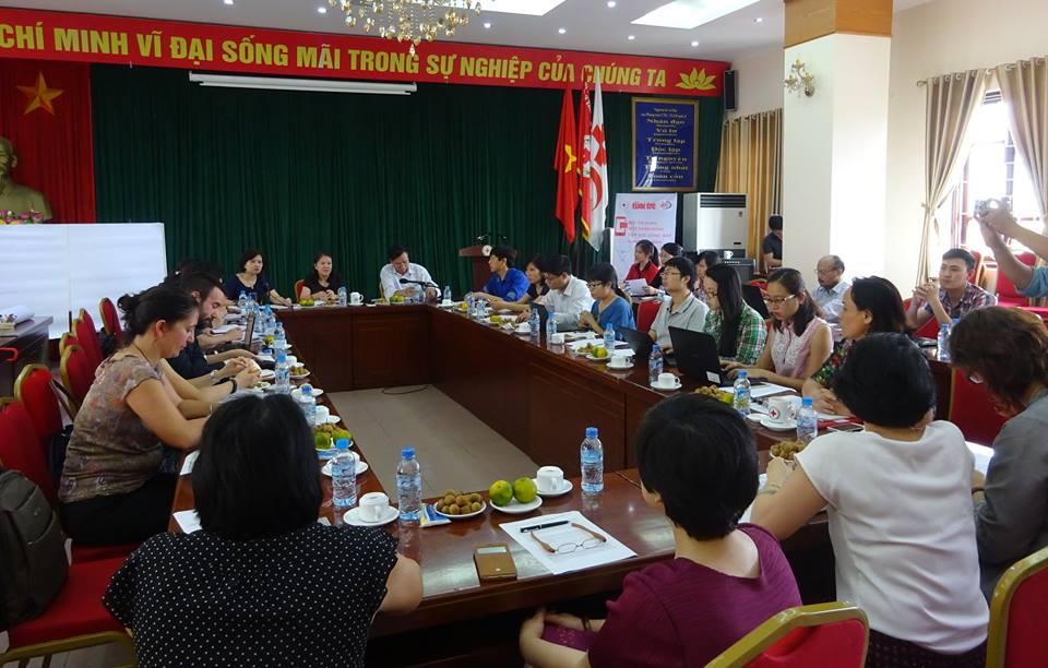 Buổi họp được tổ chức tại TW Hội chữ thập đỏ Việt Nam